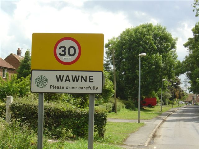 uk yorks wawne village sign